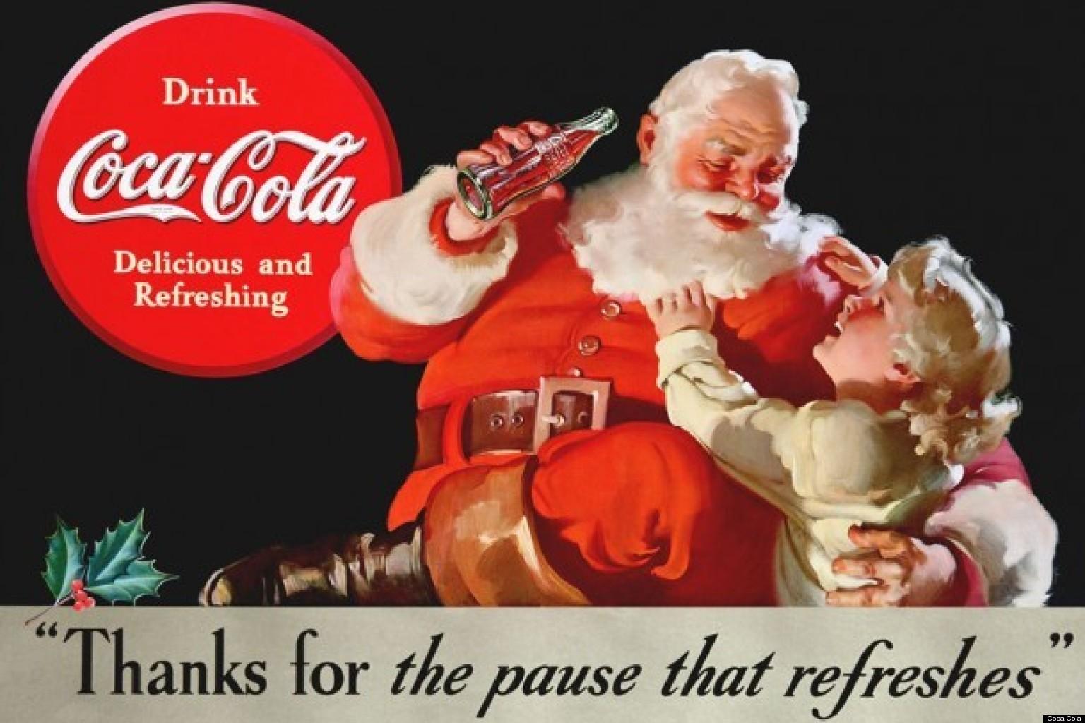 Campagne Coca-Cola avec le père Noël
