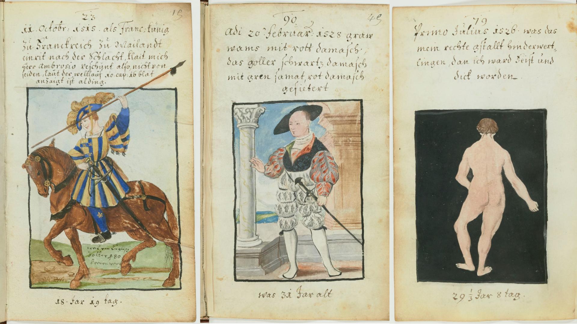 Illustrations commandées par Matthäus Schwarz en 1520