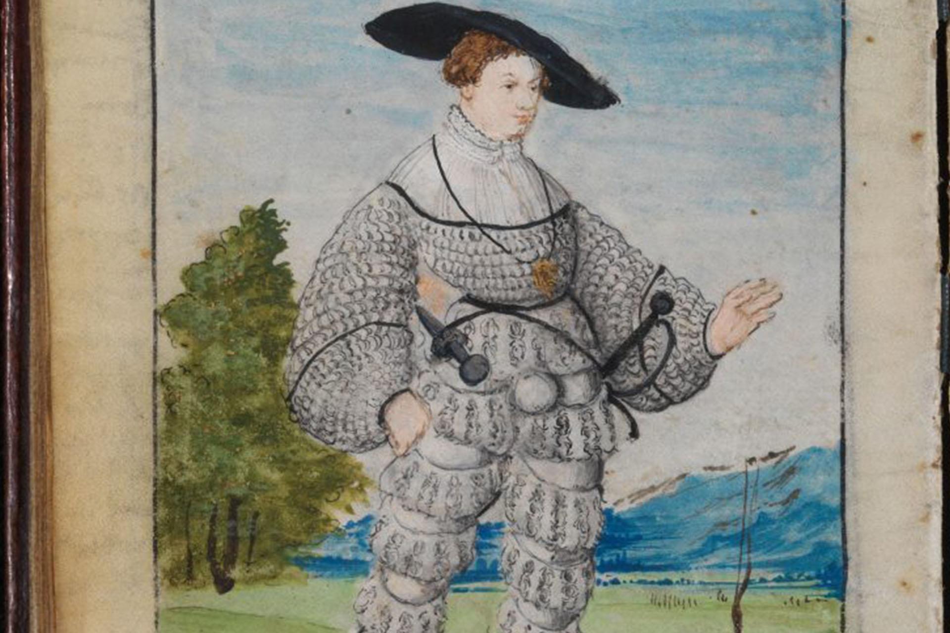 Illustration aquarelle représentant Matthäus Schwarz