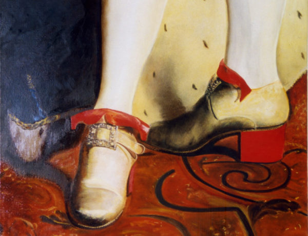 chaussures talons rouge Louis XIV